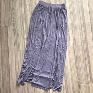 Lavender grey maxi skirt